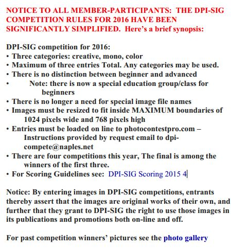 2016 competitions guidelines